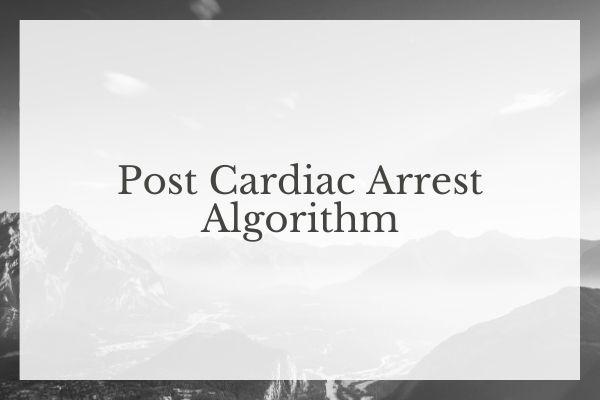 Post Cardiac Arrest Algorithm